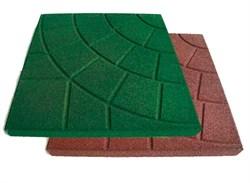 Тротуарная резиновая плитка «Паутинка» 350х350х30мм - фото 6491