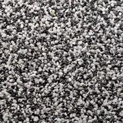 Каменный ковер Черно-белая мраморная крошка.